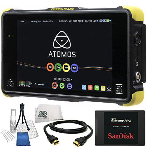 "Atomos Shogun Flame 7"" 4K HDMI 12-SDI Recording Monitor 14PC Accessory Kit. Includes SanDisk 480GB... by"