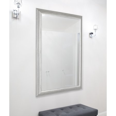 Hitchcock Butterfield Silver Giza II Stepped Wall Mirror (Architectural Silver Outdoor Wall)