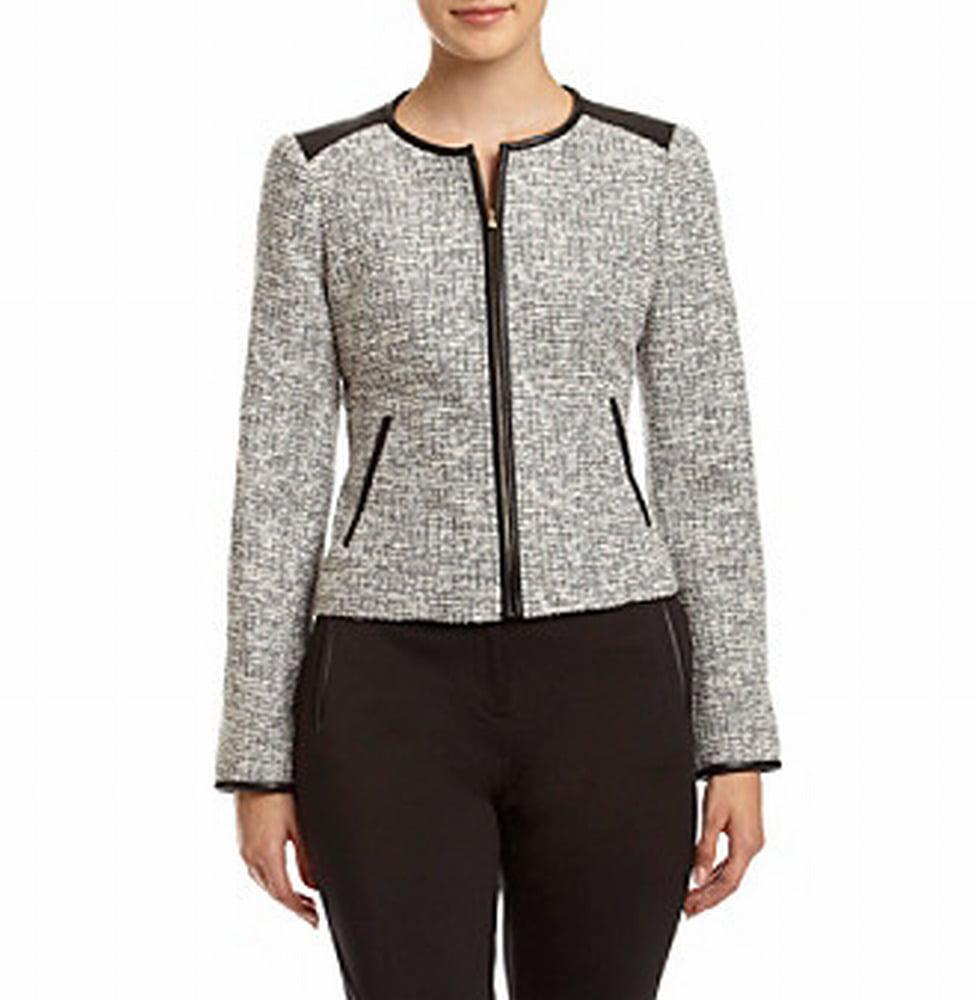 Calvin Klein NEW Black White Women's Size 6P Petite Tweed...