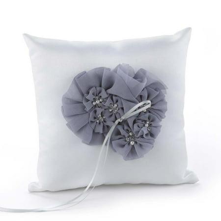 Glamorous Grey Ring Pillow