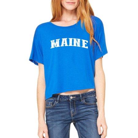Maine T Shirt Me Home University Of Maine Black Bears  Womens Shirts Flowy Boxy