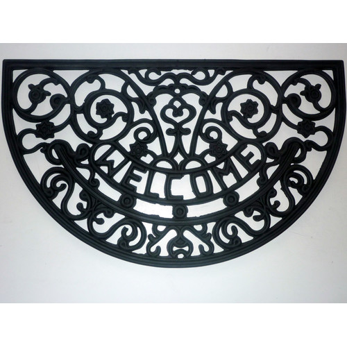 Geo Crafts, Inc Welcome Scroll Doormat