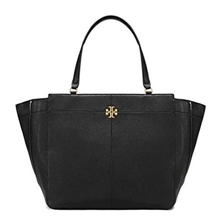 NEW TORY BURCH (44723) IVY SIDE ZIP TOTE BLACK PEBBLED LEATHER PURSE HANDBAG