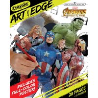 Crayola Art With Edge Coloring Book featuring Marvel Avengers