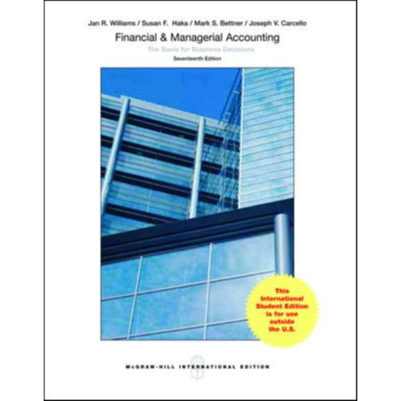 Financial   Managerial Accounting  Paperback