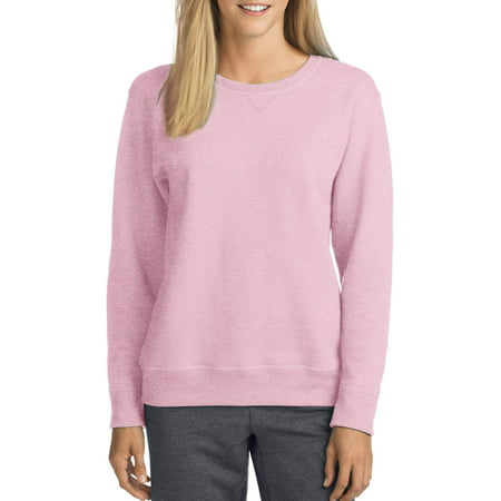 Hanes Ultimate Cotton Crewneck Sweatshirt - Hanes Women's Fleece V-Notch Sweatshirt