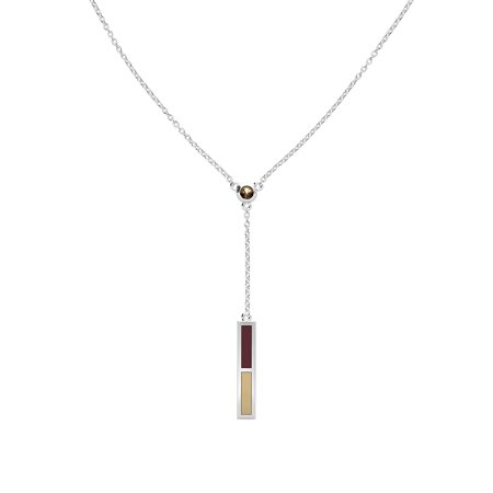 Texas State University - Light Smokey Quartz Drop Necklace in Maroon and Light (University Drop Necklace)