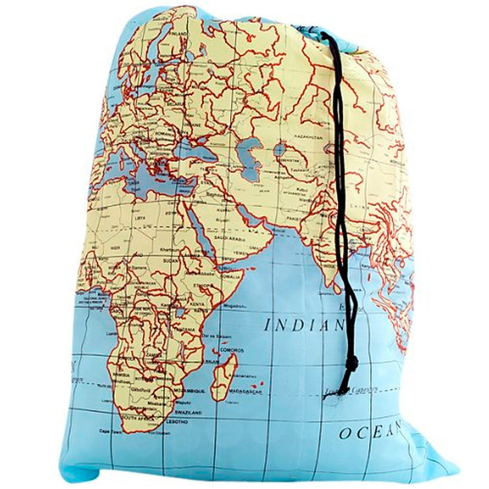 WORLD MAP TRAVEL DIRTY LAUNDRY BAG KEEPER KEEP YOUR DIRTY CLOTHES SEPERATE DORM