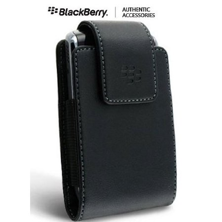 Blackberry Storm 2 Faceplate - OEM (Original) Vertical Leather Case Pouch with Swivel Belt Clip for Storm 2 (Storm2) 9520, Advanced locking mechanism securely holds phone in place. By BlackBerry
