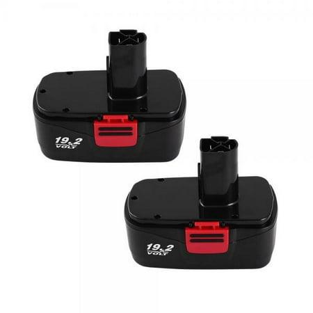 2Packs 19.2Volt 3.0Ah Battery for Craftsman DieHard C3 315.115410 315.11485 Cordless Drill Tool