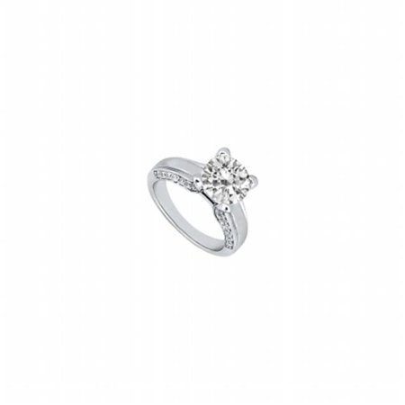 (Fine Jewelry Vault UBJ6571PTD-101RS8 Diamond Engagement Ring Platinum, 1.00 CT - Size 8)