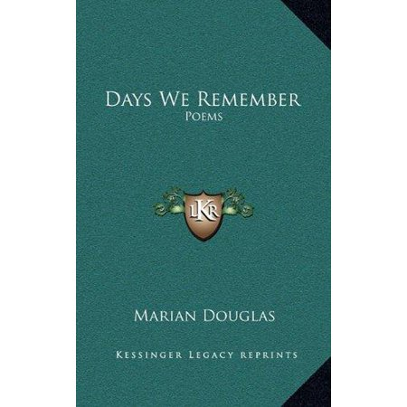 Days We Remember: Poems - image 1 of 1