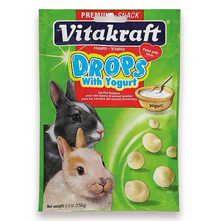 Vitakraft Drops with Yogurt Rabbit Treats, 5.3 oz (pack of - Rabbit Yogurt Drops
