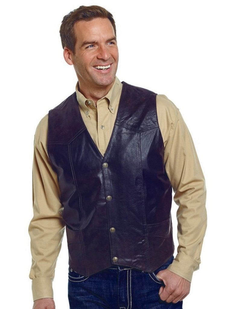 Cripple Creek Outerwear Vest Mens Suede Leather Button ML3061A