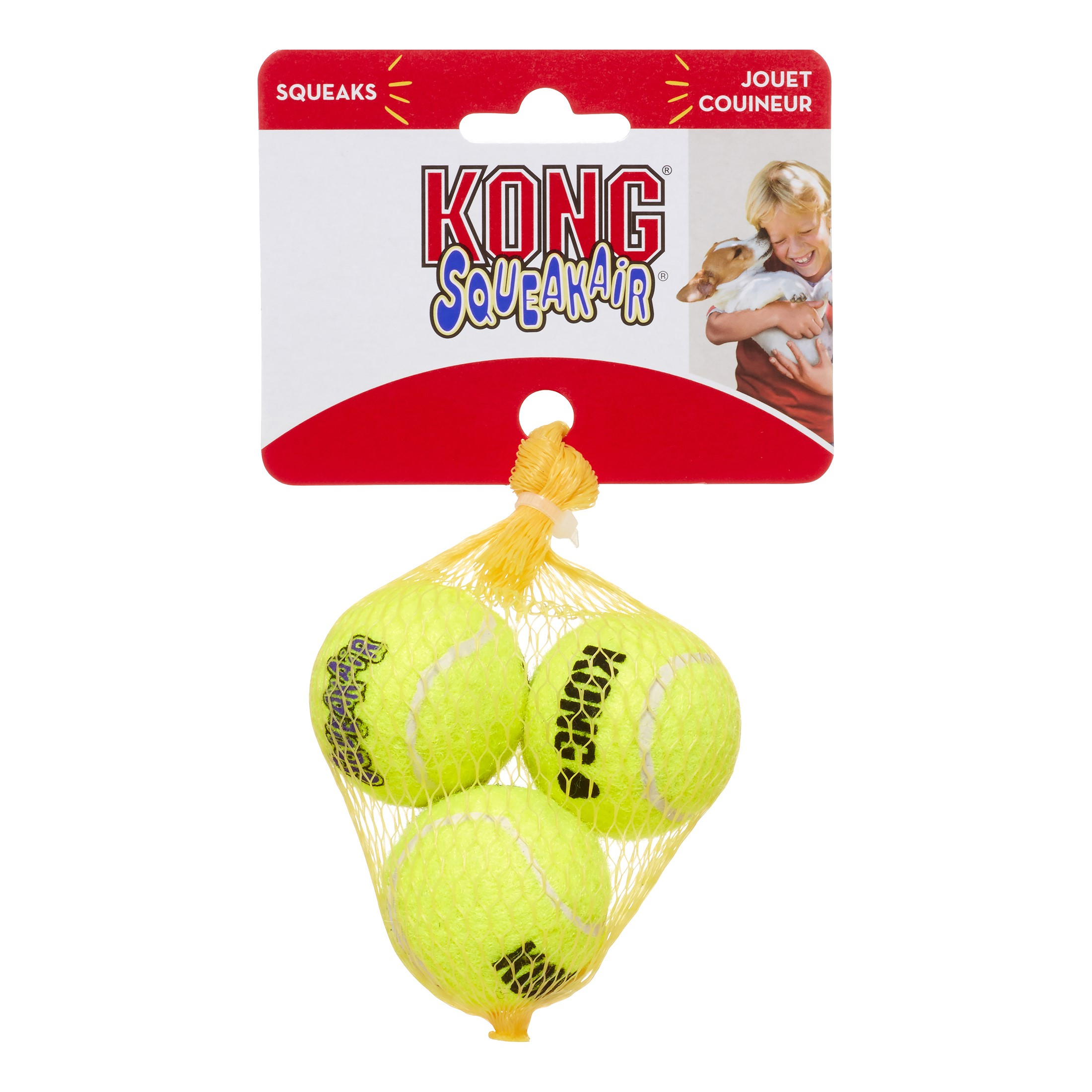 KONG Airdog Squeaker Ball Dog Toy, X-Small, 3 Count