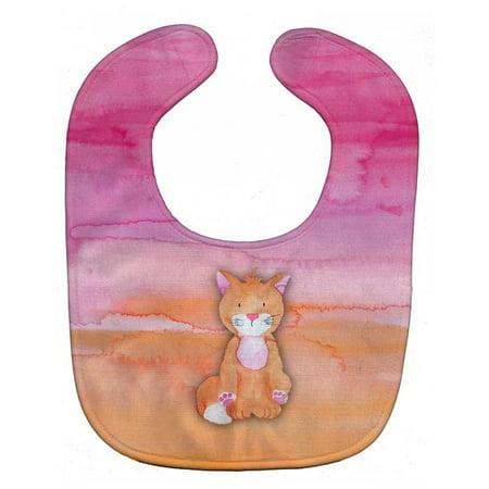 Carolines Treasures BB7354BIB Orange Cat Watercolor Baby Bib - image 1 of 1