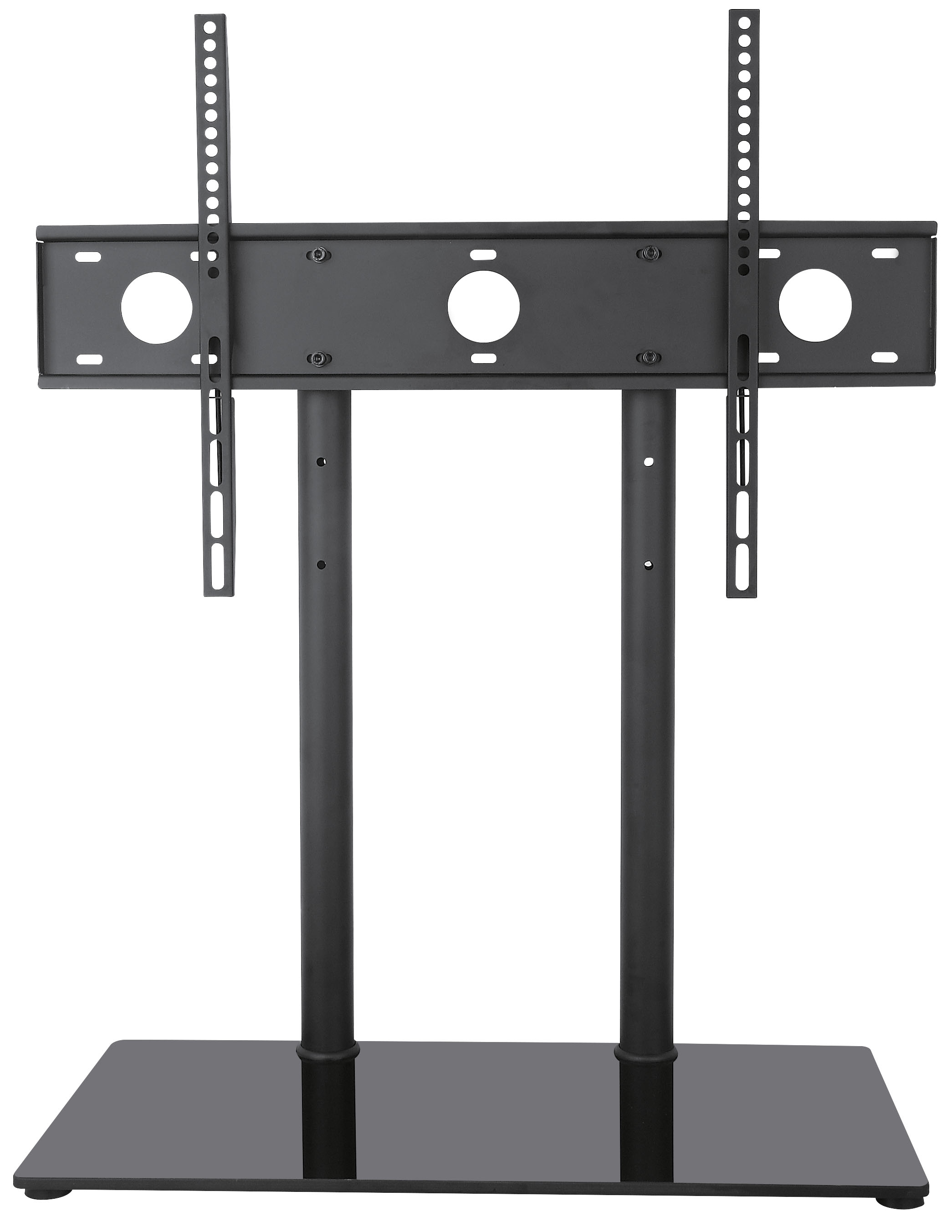 """VIVO Universal Economic LCD Flat Screen TV Table Top Stand w  Glass Base for 32"""" to 65"""" T.V. (STAND-TV00H) by Vivo"""