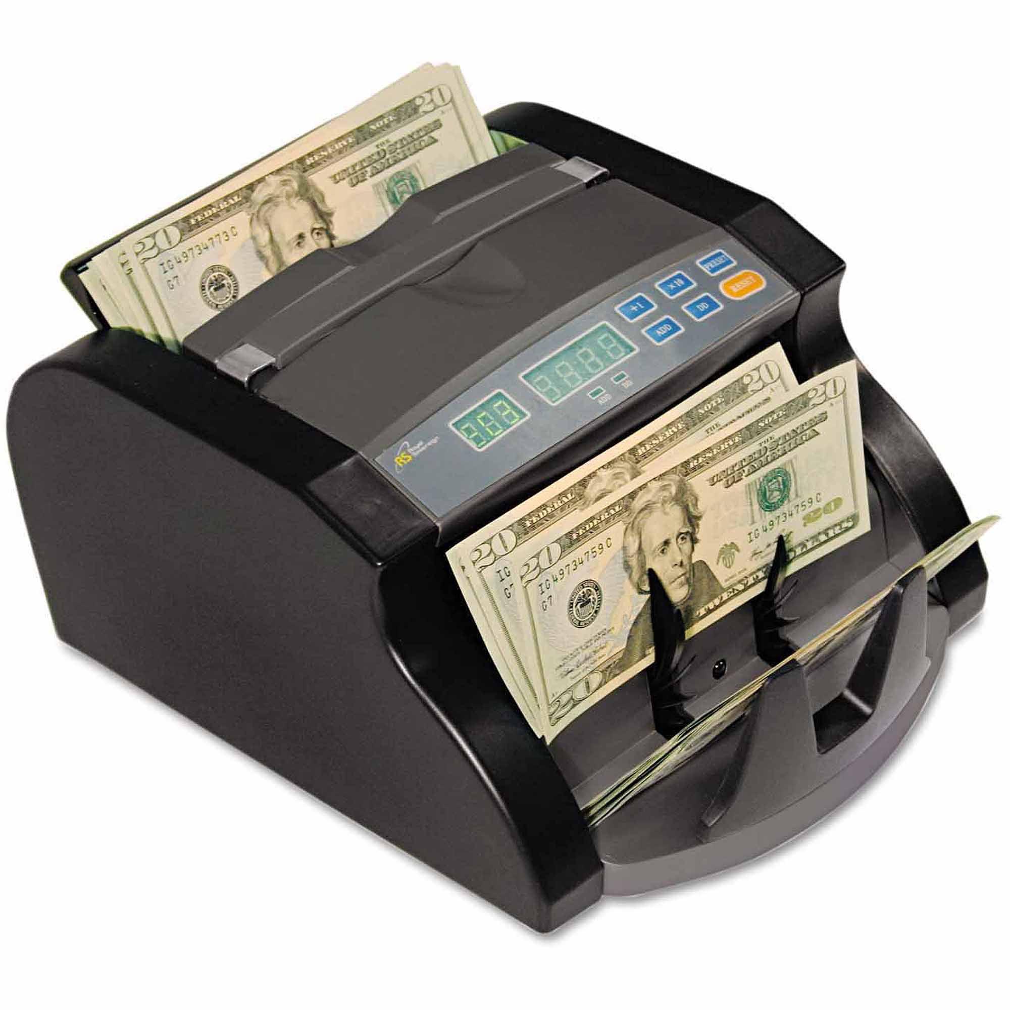 "Royal Sovereign Electric Bill Counter, 1000 Bills/Min, 10-63/100W"" x 9-45/100""D x 6-1/10"", Black/Gray"