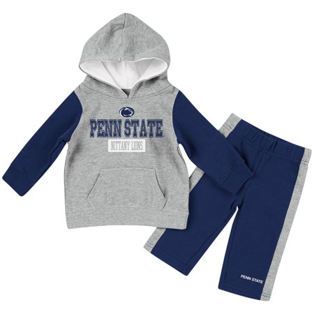 Penn State Nittany Lions Colosseum Toddler We Got Us Hoodie and Pants Set - Heathered Gray/Navy - Lion Outfit