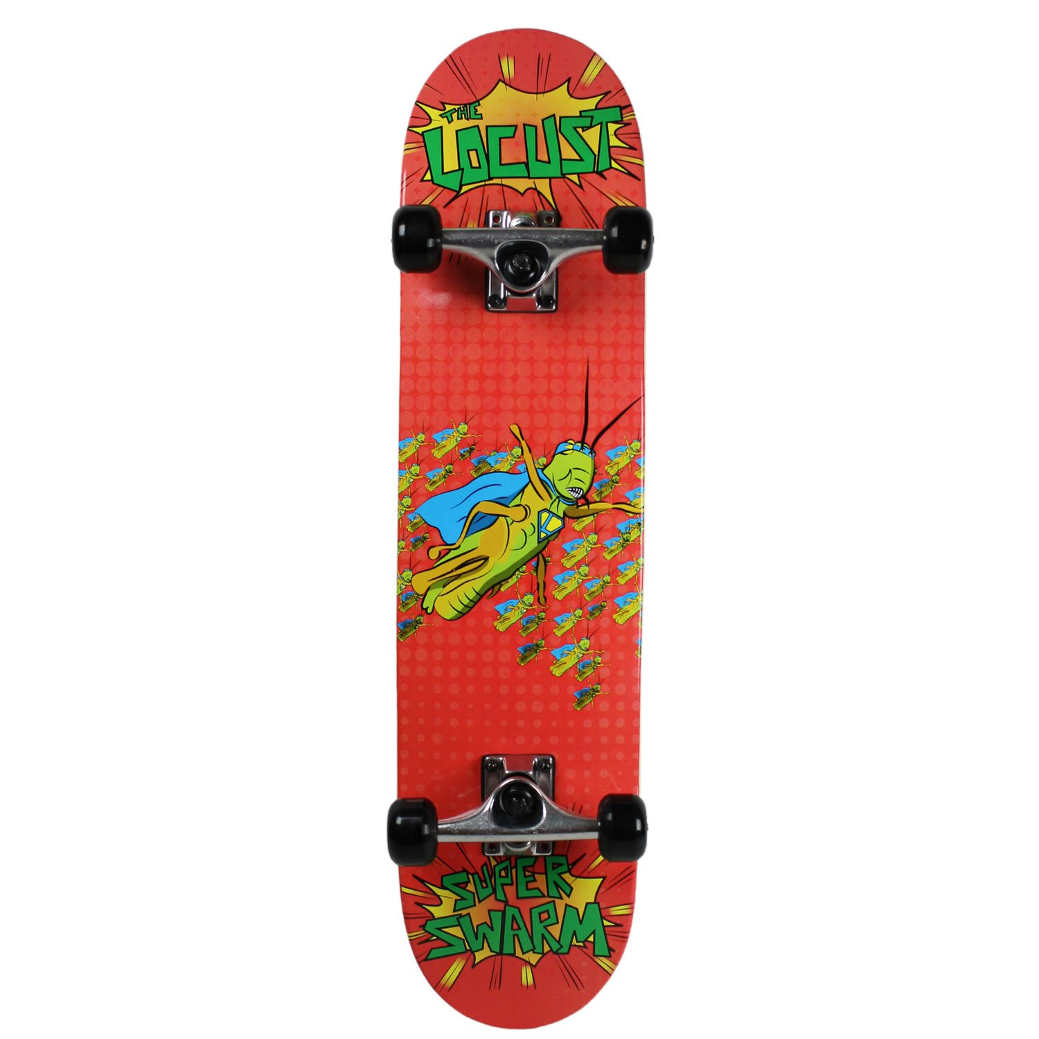 KROWN Skateboard SUPER BUG SERIES Youth THE LOCUST Red 7.25""