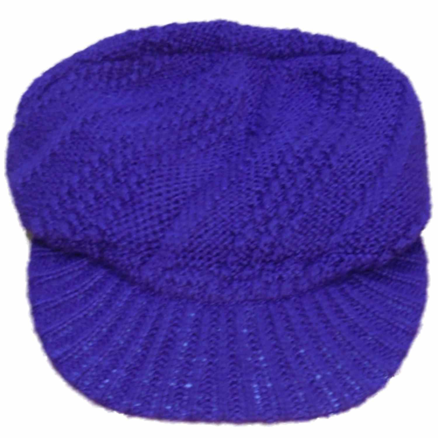 Fownes Womens Purple Knit Newboy Style Beanie Stocking Cap