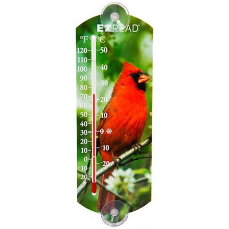 Window Thermometer, Suction-Cup, 10-In. ()