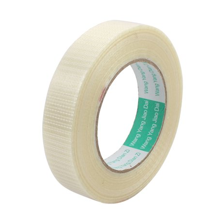 - 25mm Height 50M Length Long Adhesive Insulating Grid Glass Fiber Tape Roll