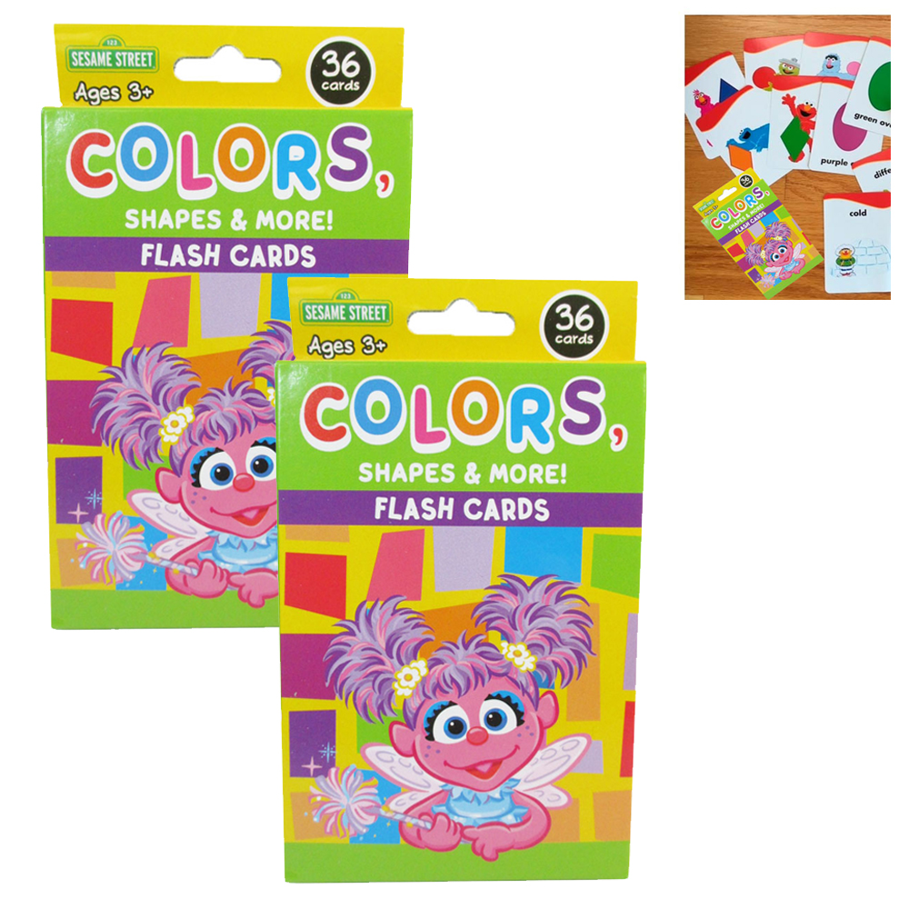 2Pk Flash Cards Sesame Street Early Learning Games Colors Shapes Characters Kids