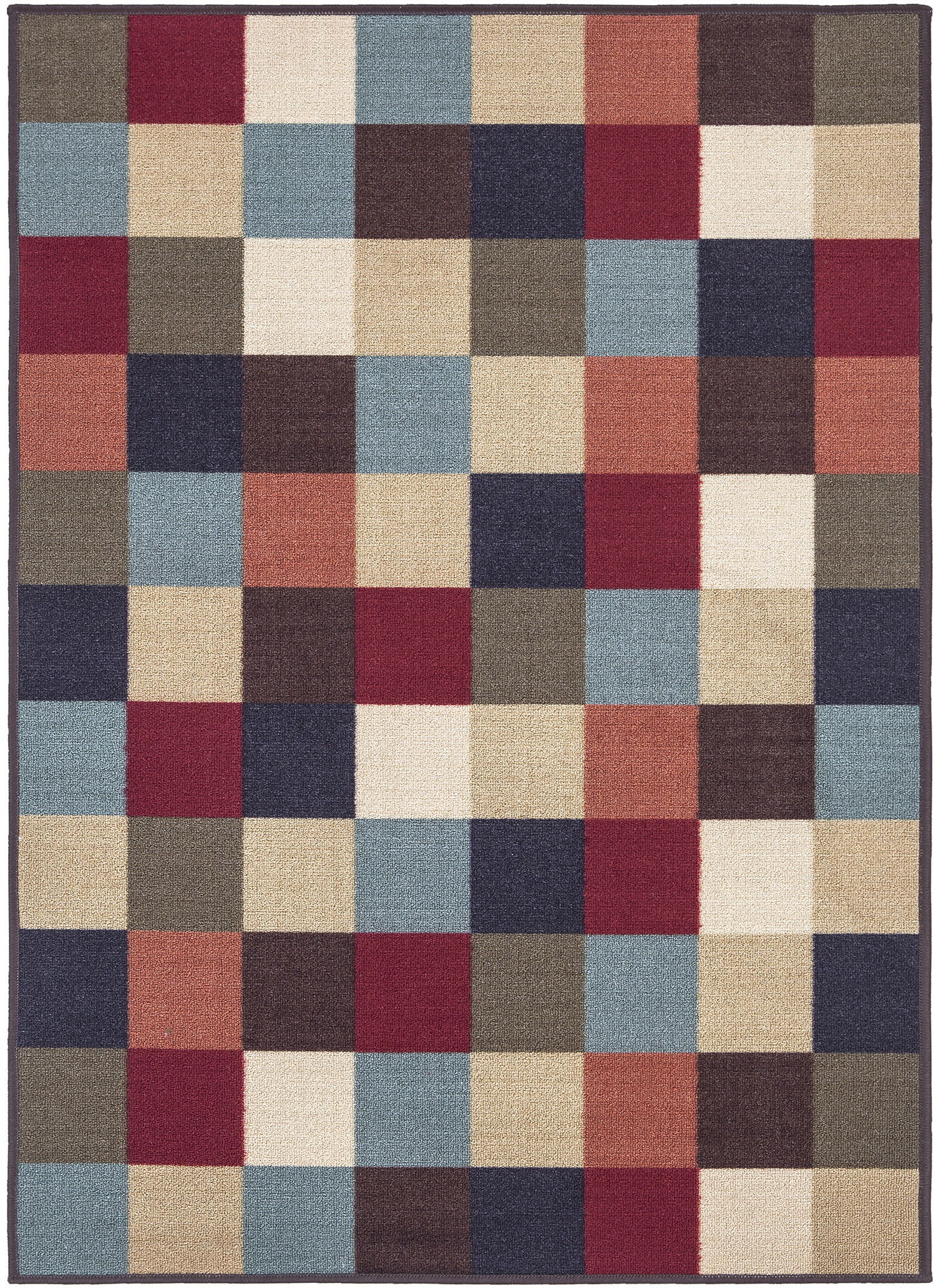 Ottomanson Ottohome Collection Contemporary Checkered Design Modern Area  Rugs And Runners With Non Skid (