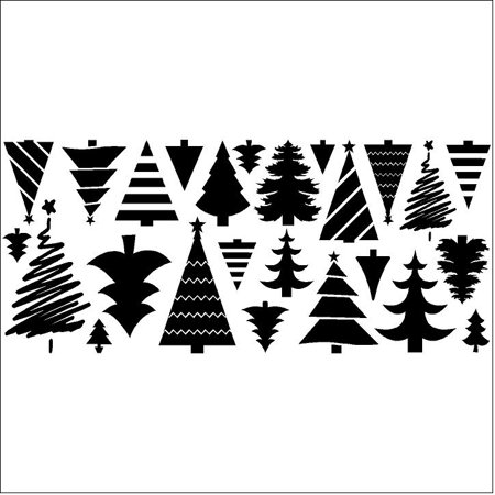 Christmas Trees set of 25 wall saying vinyl lettering decal home decor art quote sticker