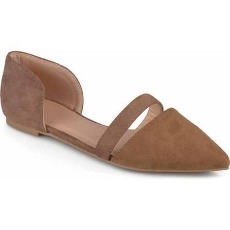 Brinley Co. Womens Pointed Toe Faux Suede (Green Sideline Flat)