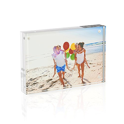 Twing Acrylic Photo Frame 5x7 Inches 4 Magnet Double Sided Photo