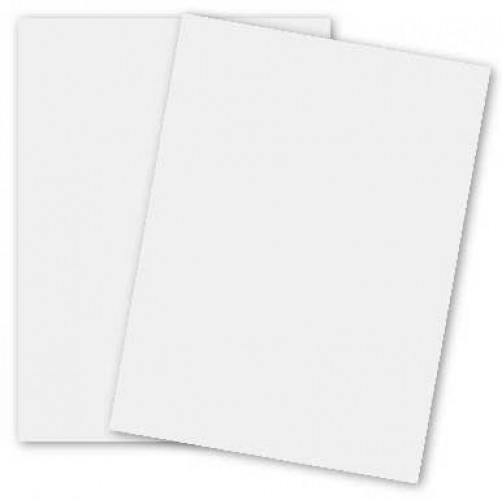 "8.5"" x 11"" White Card Stock Paper 65 Lb. Cover(176 GSM) 200 Per Pack by Superfine Printing Inc."