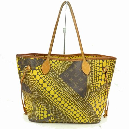 Neverfull Yayoi Kusama Pumpkin Dots Mm Tote 870588 Yellow Coated Canvas Shoulder Bag