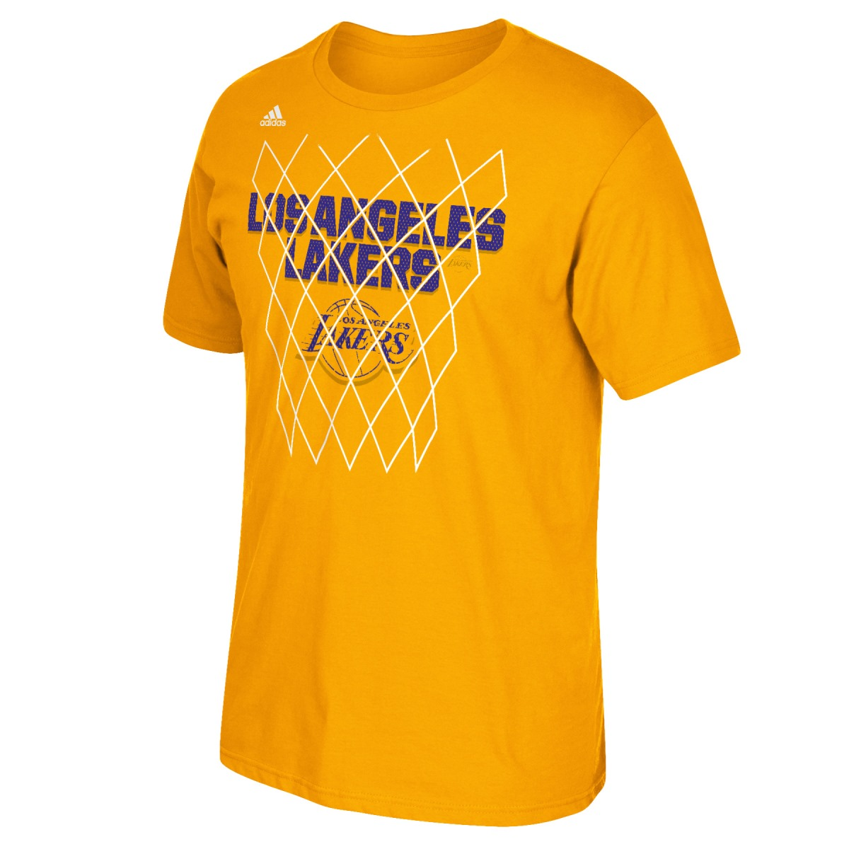 "Los Angeles Lakers Adidas NBA ""Net Up"" Men's Short Sleeve T-Shirt"