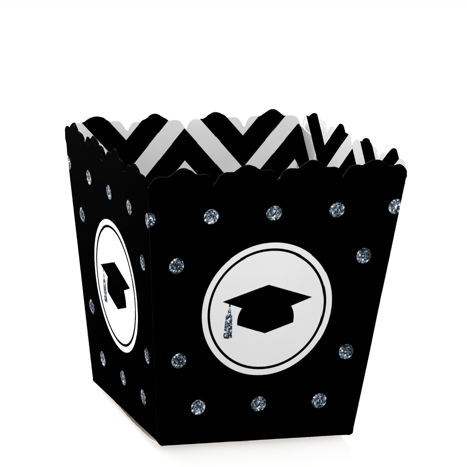 Tassel Worth The Hassle - Silver - Graduation Candy Boxes Party Favors (Set of 12)