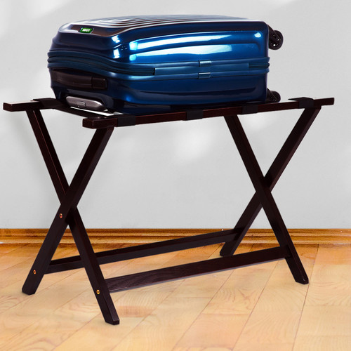 "Casual Home Heavy Duty 30"" Extra Wide Luggage Rack-Espresso"