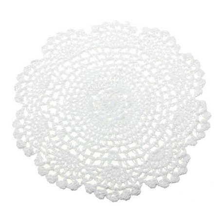 20cm Handmade Crochet Cotton Round Cup Mat Hollow Out Flower Cup Pads Decorations - image 1 of 4