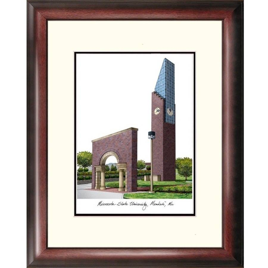 Minnesota State University Mankato Alumnus Framed Lithograph