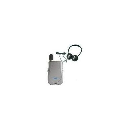 Williams Sound PocketTalker Ultra System with Rear-wear Headphone Fm Hearing System