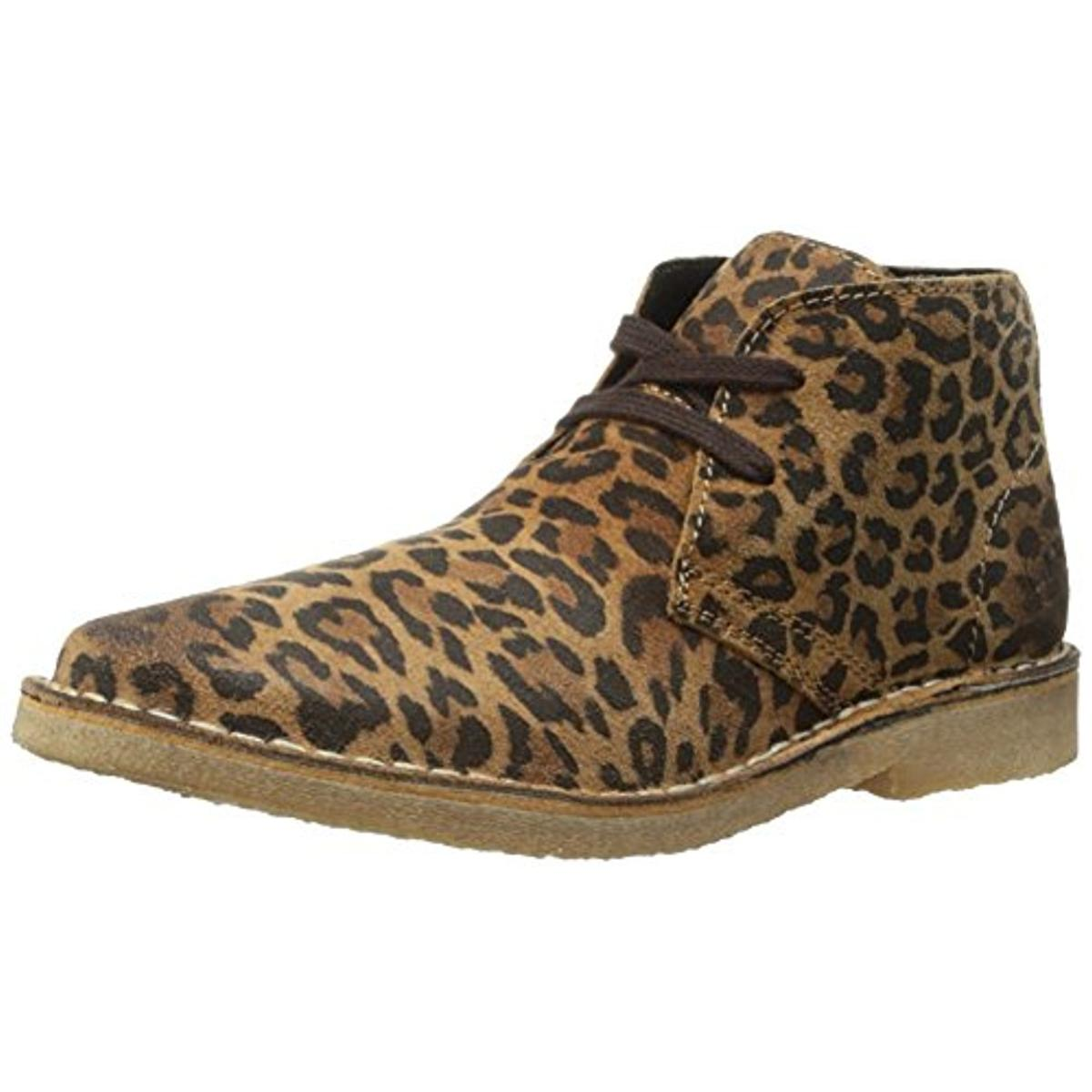 Bronx Womens Just Fine Suede Animal Print Chukka Boots by Bronx