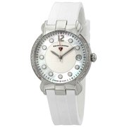 16591Sm-02-Wht Layla Diamond White Silicone White And Mop Dial Ss Watch