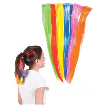 6 Assorted Retro Punk Rock Costume Hair Extension Clips for $<!---->