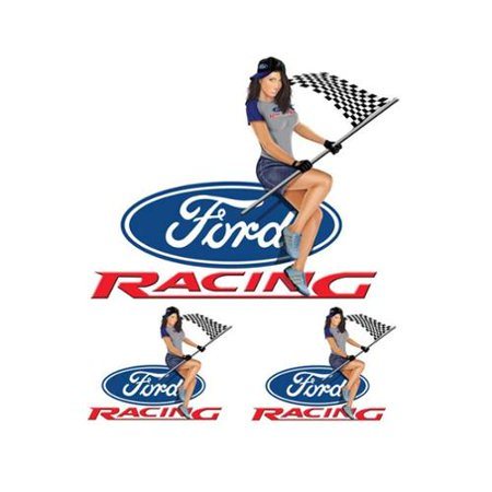 Mustang Car Decals (Lethal Threat Ford Racing Mustang Girl Decal Sticker Car Truck SUV Bike 6