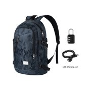 Oxford Backpack Travel Hiking & Camping Dayback for Women Men with Security Coded Lock