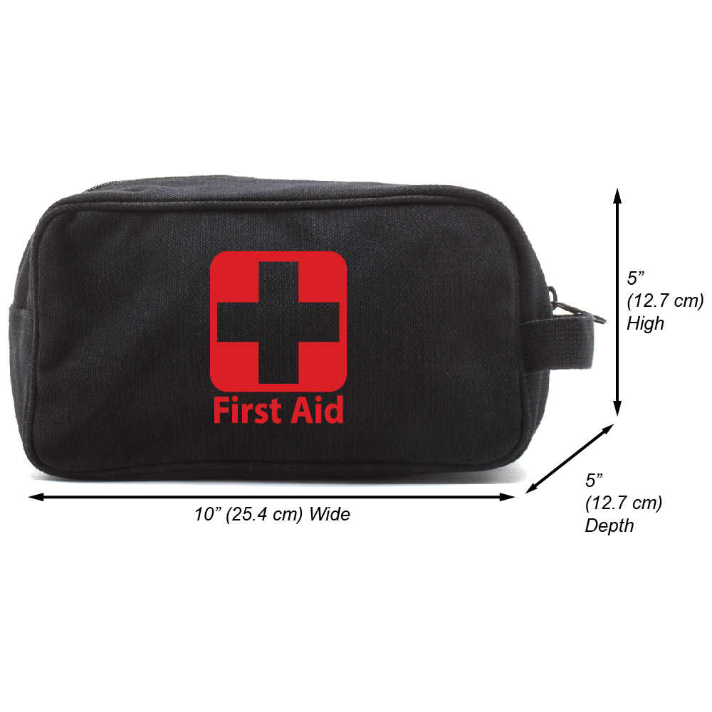First Aid Canvas Shower Shaving Kit Travel Toiletry Bag Case