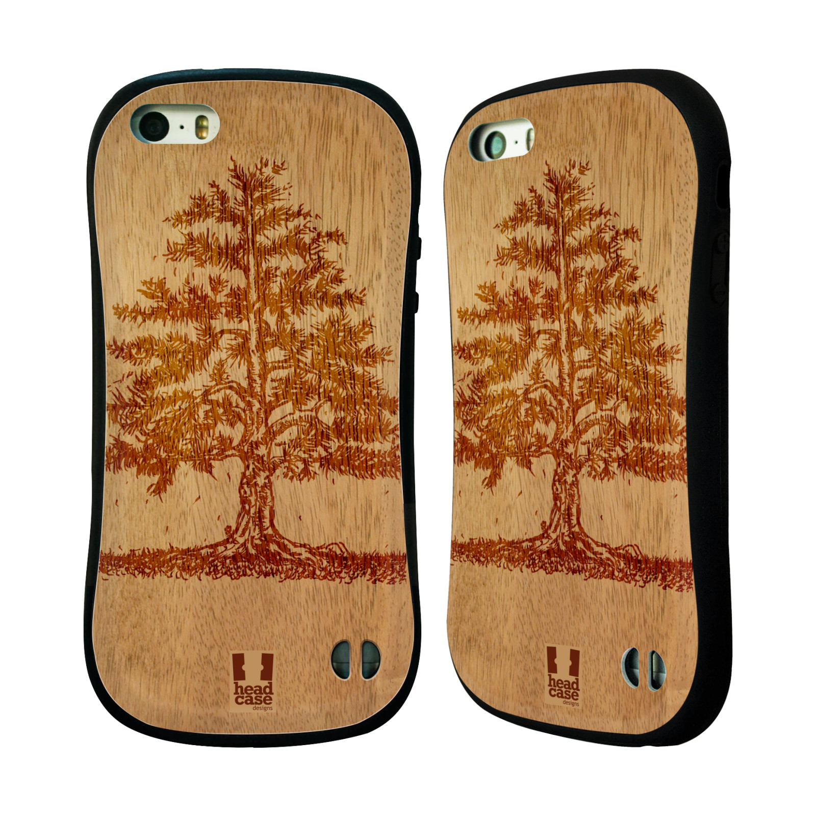 HEAD CASE DESIGNS WOOD ART HYBRID CASE FOR APPLE IPHONES PHONES