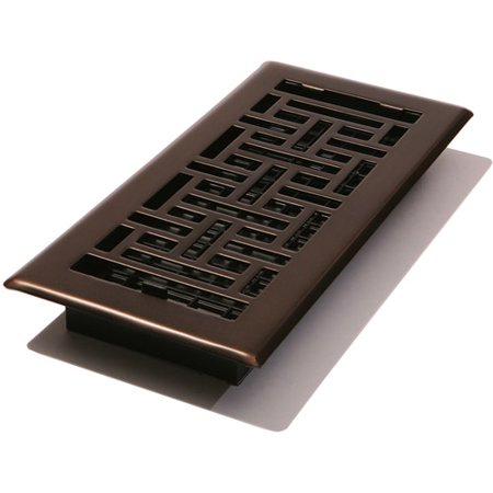 Cast Bronze Wall Register - Decor Grates Oriental Floor Register