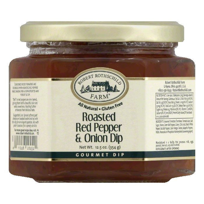 Rothschild Roasted Red Pepper Relish Dip, 12.5 OZ (Pack of 6)