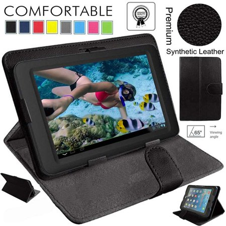 Magnetic Leather Smart Case Cover For Kindle Fire HD 7 (Dark (Kindle Fire Hd Stuck In Fastboot Mode)